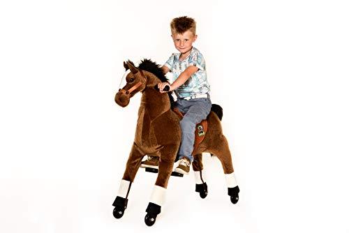 Animal riding ZRP002M Reitpferd Amadeus (für Kinder ab 5 Jahren, Sattelhöhe 69 cm, mit Rollen) ARP002M, Braun, M/L - 3