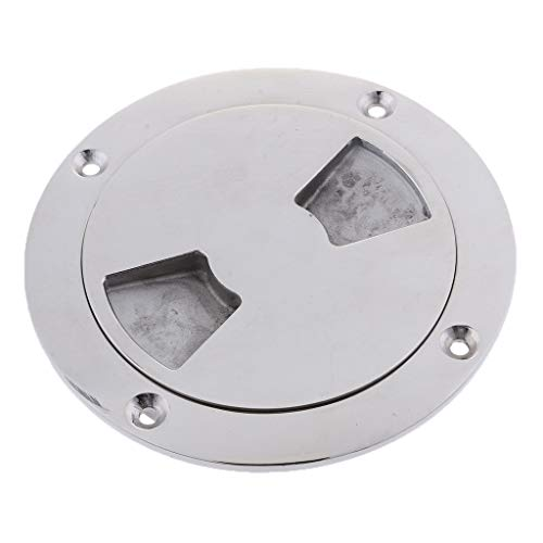 perfk Round Access Cover Weather Resistant Detachable Inspection Plate Boat Deck Screw Out Hatch Cover Boat Accessories 140mm