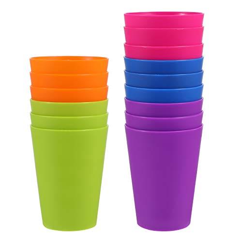 Kisangel 15 Uds. Vasos de Plástico Coloridos Vasos para Bebidas Vasos Reutilizables para Fiestas de Vacaciones Vajilla para Fiestas Contenedor 101-200Ml (Color Mixto)