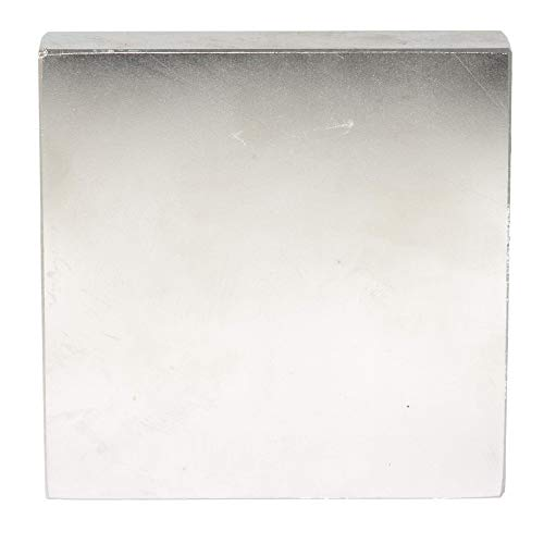 Imán de neodimio, extra fuerte, cuadrado, grande, 100mm x 100mm x 20mm 620Kg, plata