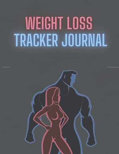 Weight loss tracker journal: A workout, meal diet and fitness gym logbook planner for women 2021 - 2022 perfect gift