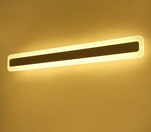 Led Spiegel Lichten Minimalistische Badkamer Waterdicht en mistlamp Mooie Badkamer Spiegelkast Spiegel Licht Acryl Badkamer Lichten, Warm Licht, 40 Cm
