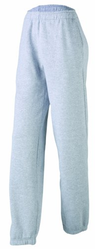 JAMES & NICHOLSON Laufhose Jogging Pantalons-Maternité Femme, Gris (Grey-Heather), (Taille Fabricant: X-Large)