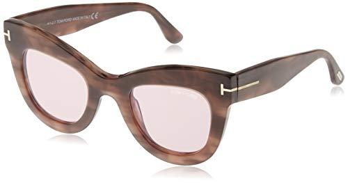 Tom Ford FT0612 55Y 47 Monturas de gafas, Marrón (Avana ColorataViola), 47.0 Unisex Adulto