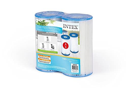 Intex N/AA Cartuccia Filtro per Piscine, Tipo A, Confezione da 2, Bianco, 1