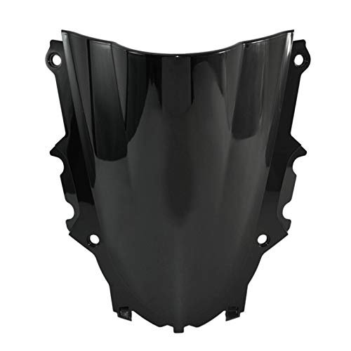 Alerón universal para parabrisas de motocicleta Yamaha YZF R3 R25 2019 2020 doble burbuja parabrisas pantalla (color negro)