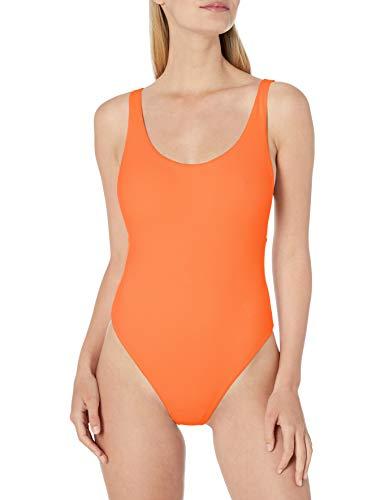Seafolly Women's Retro Tank One Piece Swimsuit, Active Cantaloupe, 12 US