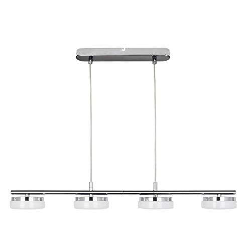 PADMA Lámpara de techo LED de 20 W, moderna mesa de comedor, blanco cálido, lámpara colgante de cocina con 4 focos, 4 x 5 W, lámpara de techo para salón