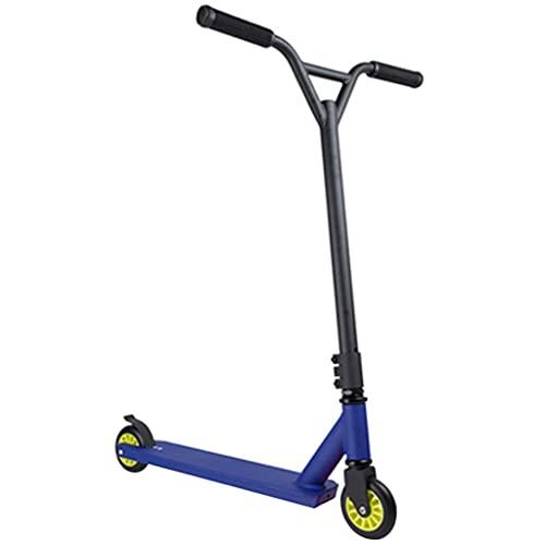 Patinete Patinete De Acrobacia Scooter De Aleación De Aluminio, Patinete Deportivos De Fitness para Adultos, Scooters De Truco De Carreras para Estudiantes (Color : Blue, Size : 65 * 52 * 85cm)