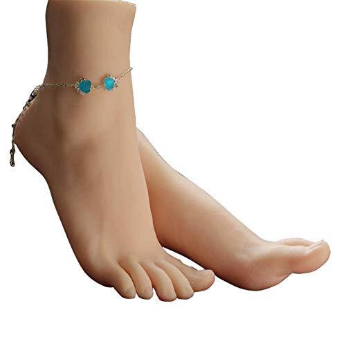 AFYH Schönes simuliertes Fußmodell, Reale Modellsimulation von Prothesenfüßen, Schuhfußmodellen und fortschrittlichen Silikonfüßen mit realistischen Texturen,A Pair of feet