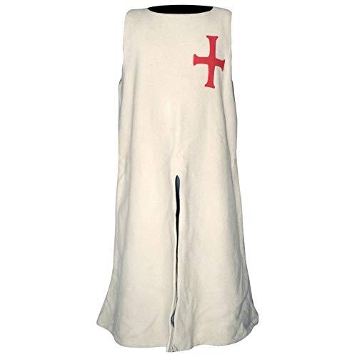 Sobrevesta Templaria, Sobrevesta medieval para Caballeros, Ropa ...