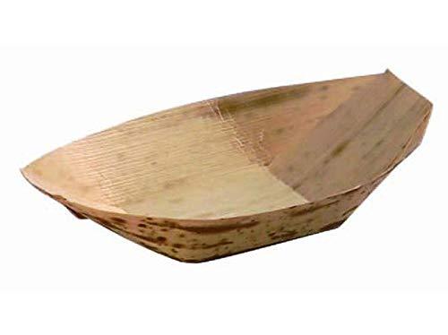 Jiandong El banquete de boda de eventos Artículos desechables respetuoso del medio ambiente vajilla 180mm barco de la hoja de bambú, 25 / Paquete (Size : 220mm)