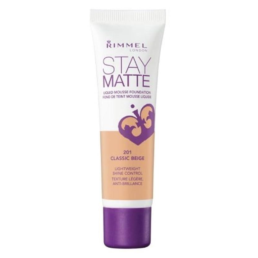 管理火星普通にRIMMEL LONDON Stay Matte Liquid Mousse Foundation - Classic Beige (並行輸入品)