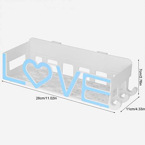 Badkamer Plank Badkamer Opslag Plank Shampoo Houder Rack Gratis Ponsen Abs Organizer Wandplanken Thuis Badkamer Decoratie Blauw