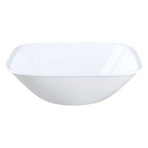 Corelle Square Pure White 22 Ounce Soup/Cereal Bowl (Set of 4)