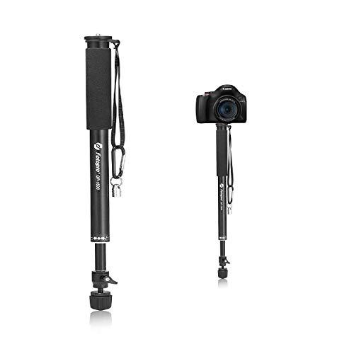 Fotopro 63 Inch Einbeinstativ Monopod für Kamera und Handy, Wanderstock
