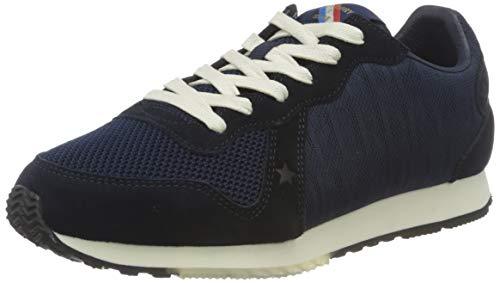 Superdry Retro Logo Runner, Zapatillas Mujer, Marina, 37 EU