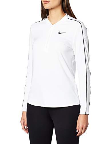 Nike Damen W NKCT DRY TOP Long Sleeve HZ Sleeved T-Shirt, Weiß (White/Black), L