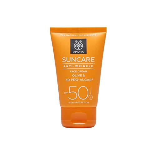 Apivita Suncare Crema Facial Antiarrugas SPF50+, 50ml