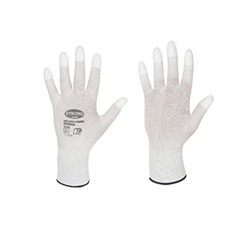 Arbeitshandschuhe mit PU-Fingerspitzen für Goldschmiede und Uhrmacher zum Polieren von M