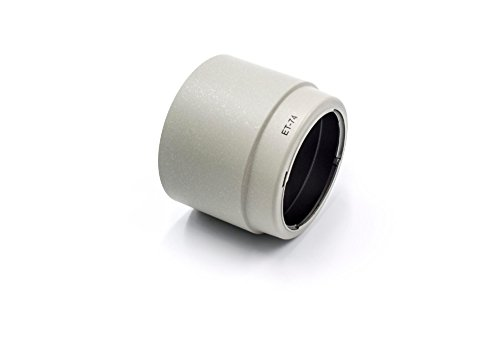 vhbw Paraluce Plastica, bianco-grigio per Canon EF 70-200mm F4 L IS USM, L USM come ET-74.