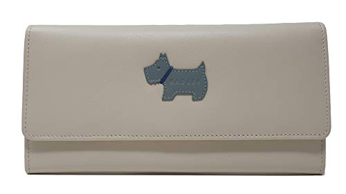 Radley 'Heritage Dog' Large Flap Over matinee Purse in Smooth Oyster Leather