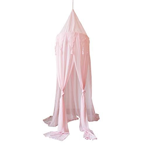 DaMohony Kids pasgeboren baby ronde koepel bed luifel spelen tent opknoping huis huisdecoratie roze