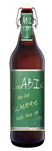 CannABIs Pils Geschenk Bier 1 Liter Flasche mit Bügelverschluss