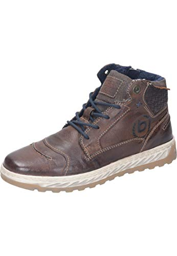 bugatti Herren 321794303200 Hohe Sneaker, Braun, 44 EU
