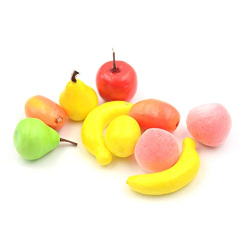 10pcs Many Kinds Of Fruit Miniature Dollhouse Decoration Handmade Food Supply QC