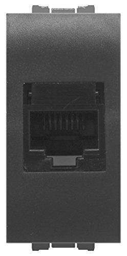 FEB 14083 Presa RJ45 Categoria 6A Plug 8/8, Grigio Scuro