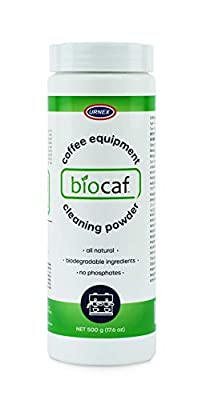 Biocaf Coffee Equipment Wash - 17.6 Ounce (100 Uses) - Safe Biodegradable Phosphate-Free for Use On Espresso Machines and Coffee Brewers Sustainable Renewable Eliminates Residue