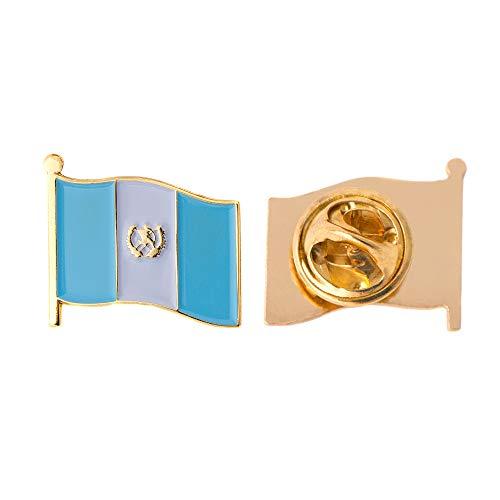Guatemala Land Flagge Anstecknadel Emaille aus Metall Souvenir Hat Herren Frauen Patriotische Guatemala (Waving Flag Revers PIN)