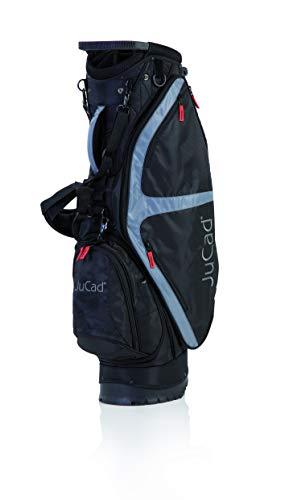 JuCad Bag Fly I Golfbag I 2in1 I Cardback I Tragebag I Golfbag I Schirmhalter I Farbe Schwarz-Titan