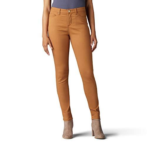 LEE Women's Sculpting Slim Fit Skinny Leg Jean, Hazelnut, 6