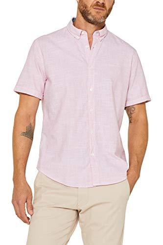 ESPRIT Herren 059EE2F012 Freizeithemd, Rosa (Blush 665), X-Large (Herstellergröße: XL)
