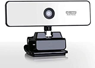 YSY-CY HD 1080P Webcam with Microphone, Auto Focus Face Cam with Dual Microphone and for PC Mac Laptop Desktop Video Calli...