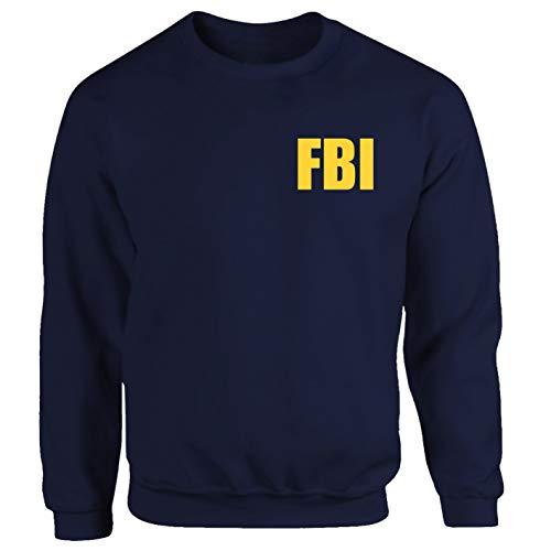 Tex-Ha FBI Polizei LKA Geheimdienst Amerika BKA Kripo Logo blau Sweatshirt (XL)