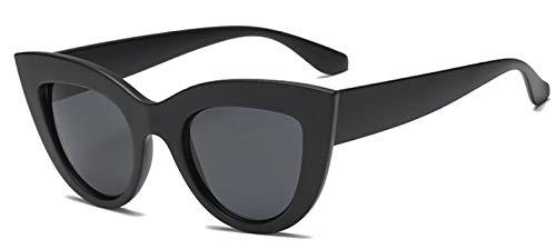 Gafas De Solnuevas Gafas De Sol De Ojo De Gato para Mujer, Gafas De Sol De Diseñador De Marca Blanca para Mujer,Gafas Uv400, Negro Mate
