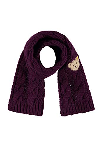 Steiff Mädchen Strick Schal, Violett (Pickled Beet Purple 7044), One Size