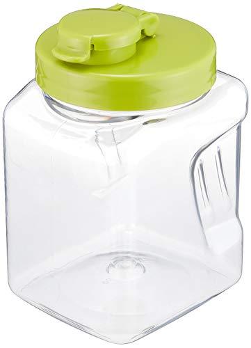 液体密封 保存びん 角 1.1L グリーン