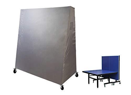 Laxllent Housse de Table de Table Tennis,Imperméable Couverture de Ping Pong Table,165 x 85 x 185 cm,Gris (210D Oxford Polyester PU Revêtement)