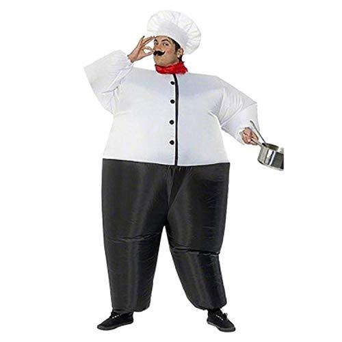 LOVEPET Gran Cocinero Gordo Inflado Disfraces De Navidad De Halloween Cosplay De Adultos del Partido del Partido del Evento Props Traje De Accesorios De La Mascarada