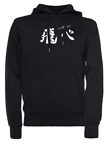 Karasuno Volar Hombre Mujer Unisexo Sudadera con Capucha Negro Todos Los Tamaños - Women's Men's Unisex Sweatshirt Hoodie Black