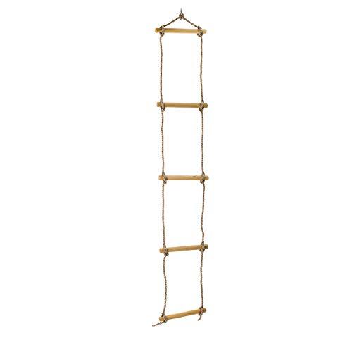 Spring Fun 20014 Hörby Bruck klimladder 190 (lengte 1,9 meter, met houten sporten, houten ladder voor binnen en buiten) 4059, hout
