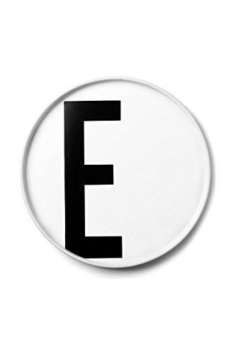 Design Letters - Teller Porzellan - Buchstabe: E - Arne Jacobsen