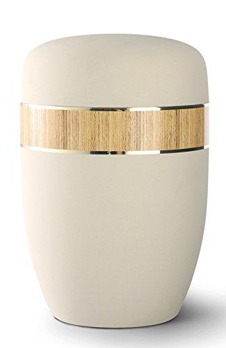 Acier cendres Urne funéraire – Taille adulte – Edition Lucca – en velours Crème – tournant décoratifs en pin