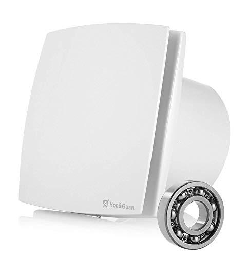 Hon&Guan 150mm Ventilador Extractor de Aire Silencioso 201m³/h para Oficina, Baño, Dormitorio