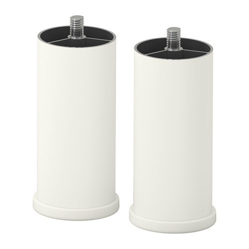 STUVA GRUNDLIG IKEA Blanco Pierna Pack de 2