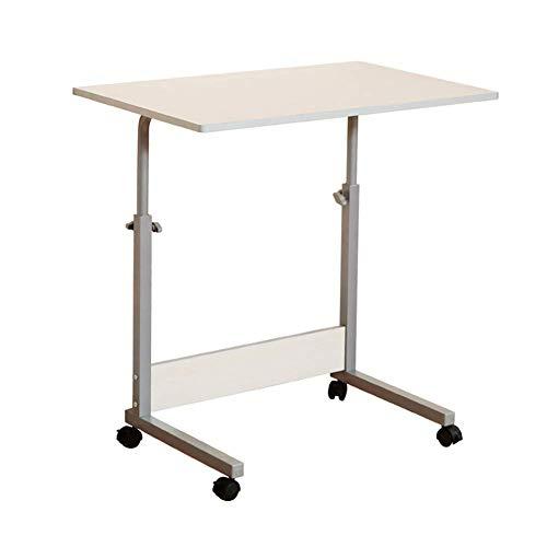 Möbeldekoration Verstellbarer Lap-Tisch Tragbarer Laptop-Computer-Ständer Schreibtischwagen Tablett Notebook Lap Beistelltisch für Bett Sofa Krankenhaus Krankenpflege Lesung Essen Schwarz 80x50cm